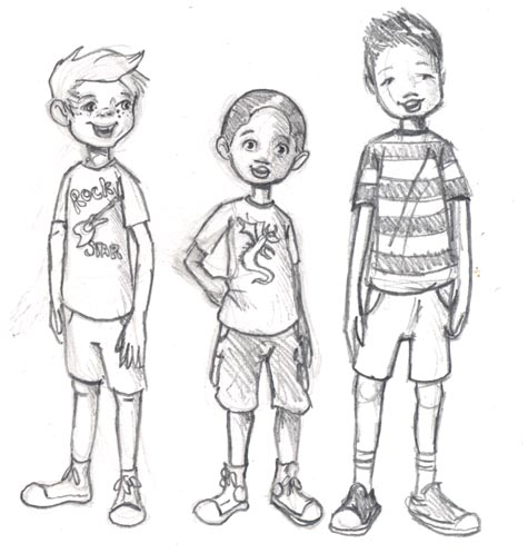 the three boys illustration and musings - Drawing For Boys