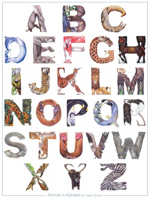 CaseyG.AnimalsinAlphabet-Poster